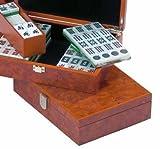 Mahjong Set. Root Wood Design Wooden Box.