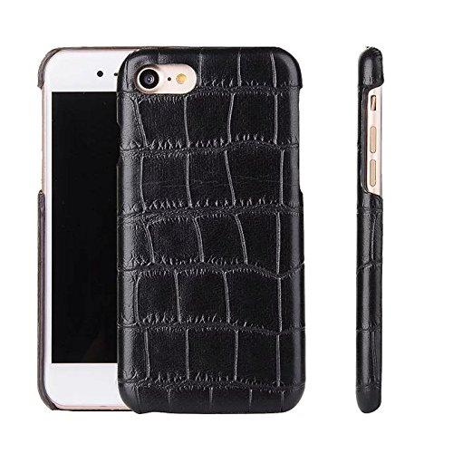 Kunstleder Tasche Hülle Schale für iPhone 7 Plus PU Case Schutz Handy Krokodil Schlange Holz Karbon Look Cover Hardcase Luxus (Krokodil Schlange)