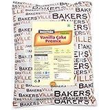 Bakersveggie Eggless Vanilla Cake Premix, 1Kg