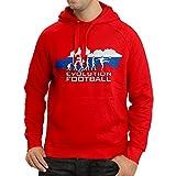 lepni.me Felpa con Cappuccio Evolution Football - L'équipe Nationale de Slovaquie (Large Rosso