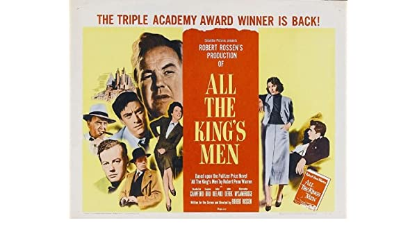 All the King/'s men Crawford vintage movie poster print