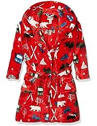 Hatley Jungen Kleid Fleece Robe-Vintage Ski-Red
