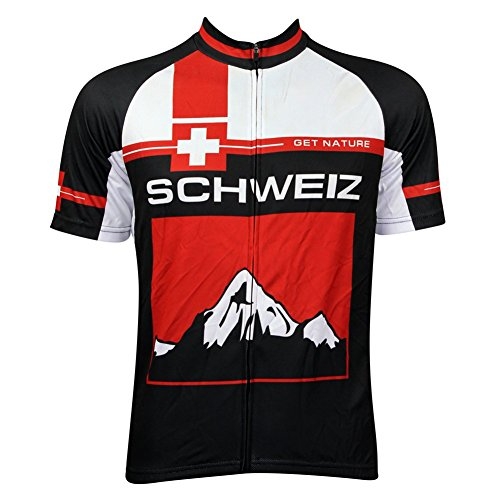 MIRACLE Breathable Short Sleeve Cycling Jersey Bike Shirt Bicycle Top