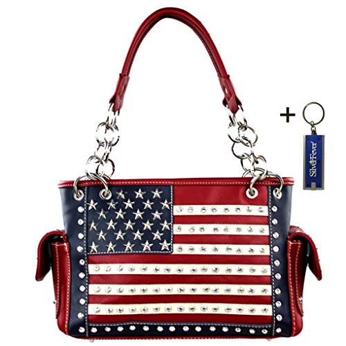 montana-west-damen-mw8085-rot-red-american-flag-concealed-carry-grosse-one-size