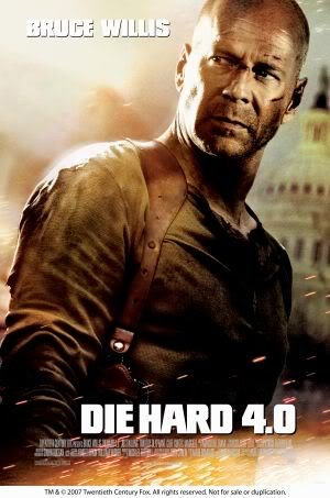 DIE HARD 4 - BRUCE WILLIS - Imported Movie Wall Poster Print - 30CM X 43CM LIVE FREE OR DIE HARD (- Dvd-live Free, Die Hard)