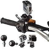 UltimateAddons Motorrad 2,5cm/25mm Kugel flach Oberfläche Adapter und M10Stud Befestigung für GoPro hero4Session