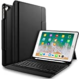 IVSO Apple ipad 9.7 2017 Case with Keyboard, Detachable Bluetooth Keyboard Front Prop Stand Case/Cover for Apple ipad Pro 9.7/ipad 9.7 2017 (Black)