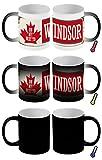 LEotiE SINCE 2004 Zaubertasse Farbwechseltasse Kaffeebecher Tasse Becher Latte Cappuccino Espresso Retro Metropole Windsor Kanada