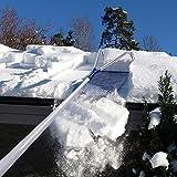 LOSA Dach-Schneeschaufel, Gartendach-Schneeräumwerkzeug, Roller Oxford-Schneeschaufel-Verstellbarer Teleskopstiel