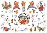 HEHAHA-STUDIO Aufkleber Kinderalbum Selbstgemachte Dekoration Weihnachten, Weihnachten 14 Ungeschnitten