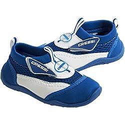 Cressi - Coral - Chaussures de plage et piscine - Enfant - Bleu (Blanc/Blue) - Taille 29