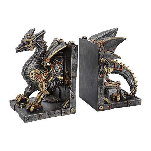 NN Deko Buchstützen Steampunk Drachen Gothic Halloween Fantasy Dragon Drache -