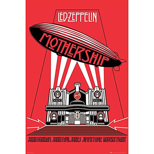 Zeppelin Led Wandtattoo (Poster 61 x 91.5 cm -
