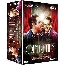Coffret opérettes - Tino Rossi & Luis Mariano : Le Chanteur de Mexico - Lumières de Paris - Violettes Impériales - Sérénade au Texas