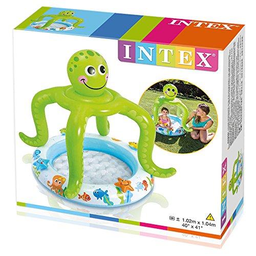 Intex Babypool Plansbecken Octopus mit Dach gepolsterter Boden -