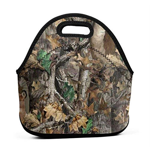 Realtree Camo Wallpapers Portable Lunch Bags,Reusable Picnic Bag -For Adults, Women, Girls, School Children - Suitable For Travel, Picnic, Office (Small) -