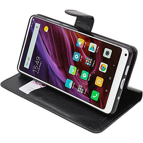 ebestStar - Funda Xiaomi Mi Mix 2S Carcasa Cartera Cuero PU, Funda Libro Billetera Ranuras Tarjeta, Función Soporte, Negro [Aparato: 150.9 x 74.9 x 8.1mm, 5.99'']