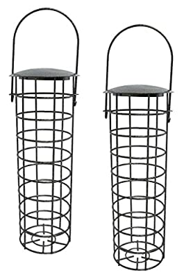 "2 x 10550 Deluxe Heritage Wild Bird Hanging Fat Ball Feeder Garden Suet Ball Feeders 10"" from Heritage Pet Products"