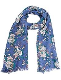 Womens Summer Stylish Peony Floral Flower Print Neck Wrap Shawl Scarf Scarves