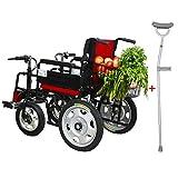 Silla de ruedas eléctrica de Walker médica adecuada para personas mayores con discapacidad Asiento de silla de ruedas plegable Batería de ácido de plomo de cuatro ruedas multifunción automática de 17