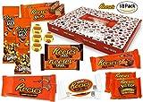 Reese - Sweet-Box - XXL Geschenkkorb | 18 verschiedene amerikanische Süßigkeiten | Peanut Butter Cups in Vollmilch und weißer Schokolade | USA Reeses Sticks, Nut Bar, Pieces, Big Cup