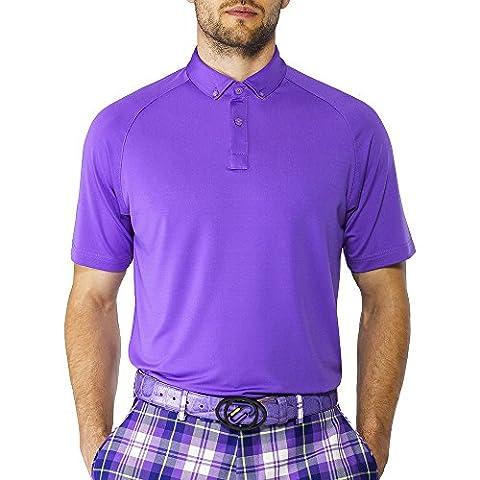 IJP Design Men's T-Shirt Polo de Golf Violet Violet moyen