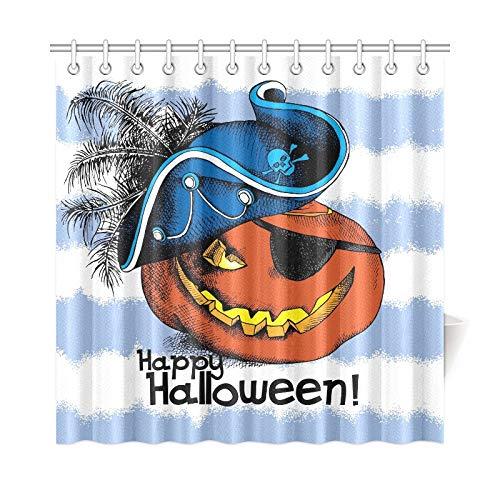 ad Vorhang Halloween Poster Bild Spooky Pumpkin Eyes Polyester Stoff Wasserdicht Duschvorhang Für Badezimmer, 72X72 Zoll Duschvorhang Haken Enthalten ()