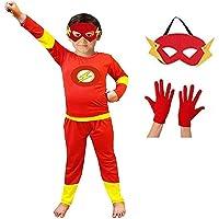 Baby & Sons Superhero Costume for kids Spider Boy | Super Boy | Bat Boy | Flash Boy Fancy Dress Costumes