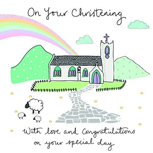 Saffron Cloud Nine Christening Card