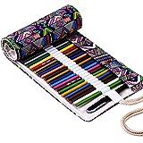 Estuche para guardar lápices de colores Fablcrew, de tela que se enrolla, para artista, escuela, oficina 37.4'''' X 8.3'''' 72 Slots