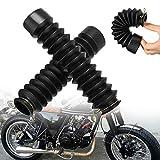 Kylewo 1 Paar/2Stk Motorrad Gummi Front Gabelschutz Gamaschen Stiefel Gamasche Wrap Abdeckung Set...