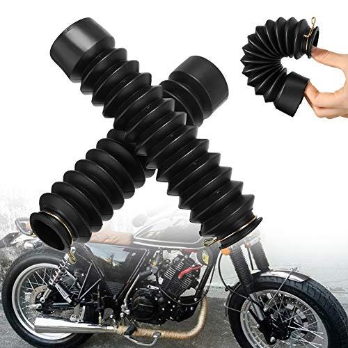 Kylewo 1pair / 2pcs moto in gomma forcella anteriore protezione ghette stivali ghetta copertura dell'involucro Set 42mm antiscivolo