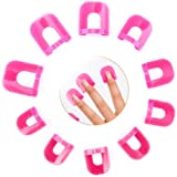 Gresunny 78st Nagellak Stencil Herbruikbaar Plastic Nagelbeschermer Shields Kit Vingerbedekking Nail Art Protector Clips Nage