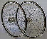 26 Zoll Fahrrad Laufradsatz REFLEX Hohlkammerfelge schwarz Shimano Dynamo DHC30003/TX800 Vollachse silber Niro silber