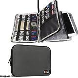 Doble Capa Travel Gear Organizador / Electrónica Accesorios Bolsa / caso del cargador de batería, Ajuste para el iPad / iPad Mini Aire / iPad (L, Gris)