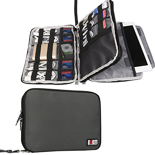 bubm-double-layer-travel-gear-organiser-electronics-accessories-bag-phone-charger-case-large-gray