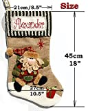 "Personalised Christmas Santa/Snowman Stocking 18""/Santa/Snowman Sack 35"" (Snowman Stocking 18"")"
