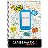 Classmate Soft Cover 1 Subject Spiral Binding Selfie Notebook, Single Line, 180 Pages