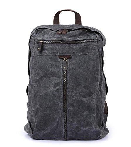 Zhangor zaino vintage in tela, zaino per notebook zaino/zaino da viaggio/escursionismo, uomo e donnazanghor,gray