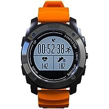 Profesional Reloj Deportivo con Monitor dealtidud y temperatuta presion Smartwatch con GPS Monitor de sueño Podometro Compatible con Andriod y IOS Contiene 10 Lenguas