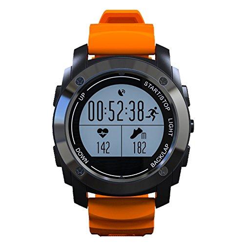 Profesional Reloj Deportivo con Monitor dealtidud y temperatuta presion Smartwatch con GPS Monitor de sueño Podometro Compatible con Andriod y IOS Contiene 10 Lengu