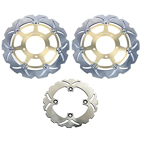 TARAZON Front and Rear Brake Disc Rotors Disks for Kawasaki Ninja ZX6RR ZX6R ZX600 ZX636 2003 2004