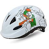 BatFox niños y niñas casco de equitación niños niño ciclismo patinaje casco cascos de protección infantil para deportes al aire libre equipo, blanco