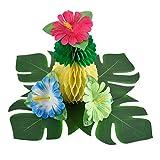 Pangda 32 Stücke Simulation Hibiskus Tropische Blätter für hawaiianische Luau Dschungel Party Dekoration - 6