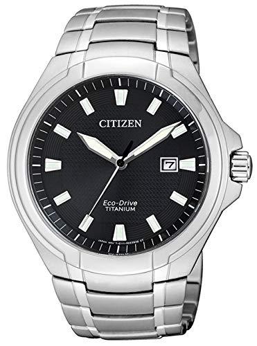 Citizen Herren Analog Quarz Uhr mit Titan Armband BM7430-89E