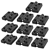 50 mm x 47 mm para puerta de armarios onestopdiycom bisagras 10 piezas negro