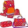 Spiegelburg Fun Flowers 11880 11859 11865 Flex Style DIN fluoreszierend Rucksackset + Sporttasche + Etui-Box