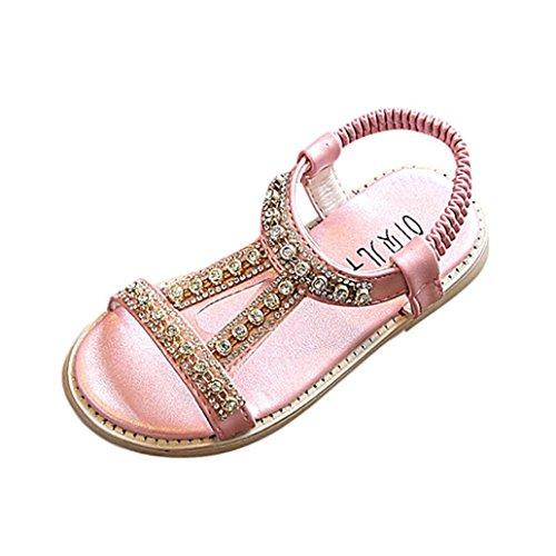 FNKDOR Kinder Baby Mädchen Sandalen Kristall Sandalen Prinzessin Sommer Schuhe (20, Pink)