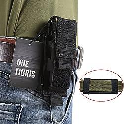 OneTigris Etui/Housse Tactique Réglable Pour Couteaux Pliants Porte-Chargeur Avec Molle En Nylon (Nior - Fermeture Par Crochet-Boucle)