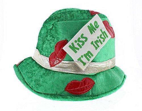 Kiss Me I'm Irish Fedora Hat - Costume Accessories Party Supplies - Green by Buckle (Irish Fedora)